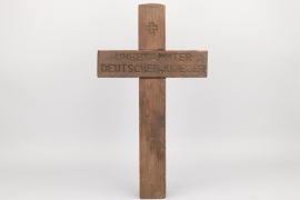 Grave cross of an unknown German soldier