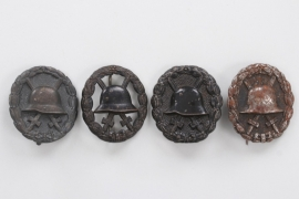Imperial Germany - 4 Wound Badges