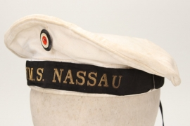 Kaiserliche Marine - SMS Nassau white summer cap - EM
