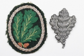 Heer Jäger sleeve badge & cap badge - officer
