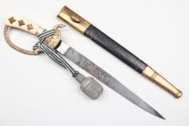 Third Reich forestry hunting dagger & portepee - Höller