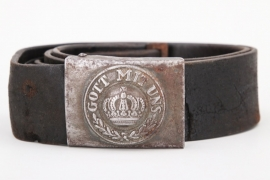 WWI Prussian EM/NCO belt and buckle