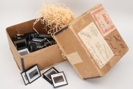 71 x USA - US Navy glass slides in box