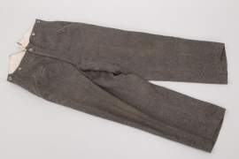 Heer M36 stonegrey straight trousers - WB39