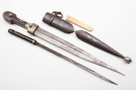 Caucasus - 1900 Kinzal with trench knife