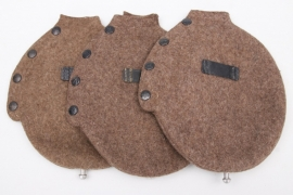 3x Wehrmacht canteen felt cover - unissued