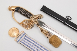Finland - officer's sword M22 + parade belt & buckle - Hörster