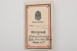 "Battleship ""Seydlitz"" (Battle of Jutland) Militärpaß"