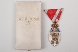 Serbia - Order of  the White Eagle IV. Class with case