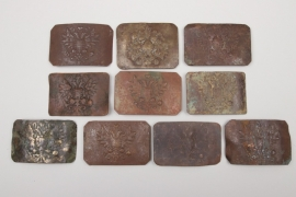 Russian Empire - 10 + belt buckles