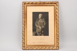 General Wilhelm Reinhard - signed photo with frame