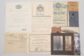 WWI photos, certificates & military ID-cards