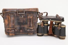 "WWI ""Dienstglas"" binoculars DF.03 with case"