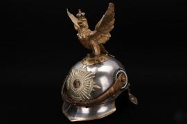 Prussia - M1889 Leibgendarmerie parade helmet to Gefreiter Madel