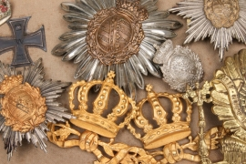 Saxony/Prussia - spike helmet badges & patriotic miscellaneous