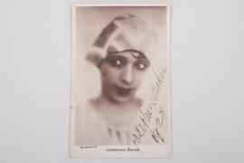 1928 Josephine Baker signed postcard