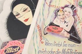 "14x ""Most-Pralinen"" advertising posters"