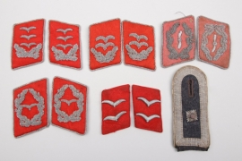 6 x Luftwaffe collar tabs & HG single shoulder boards