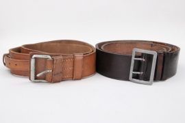 2x Third Reich leather belt