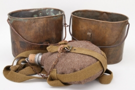 Russian Empire - 2 x mess kits, 1 x canteen