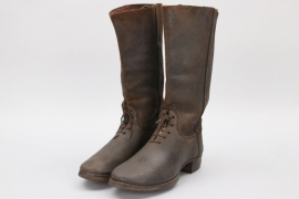 Imperial Germany - WW1 officer's field boots