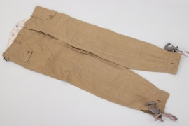 WW1 Schneeschuh-Batallion field trousers - B.A.IV 1917