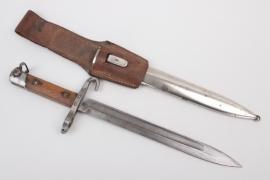 "Austria Hungary - officer's bayonet ""Mannlicher"" M1895 + frog"