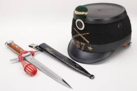 Switzerland - M1898 shako & M43 dagger