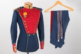 """Saxony - """"Ulanka"""" tunic & trousers for a private of the Ulanen-Regiment No 18, Leipzig"""
