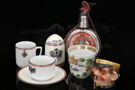 7 x Imperial Germany - patriotic cups & reservist's bottle