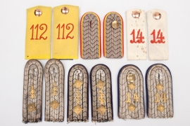 6 x Imperial Germany - shoulder boards