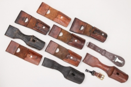 11 x Swiss & Wehrmacht leather frogs and hangers