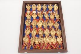 32 Baden Military Association membership badges