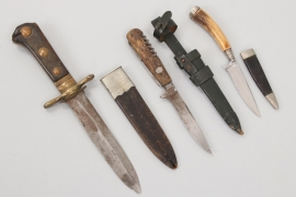 3x hunting dagger and knives