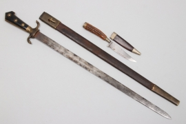Imperial Germany - hunting dagger & hunting knife