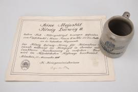 Bavaria - Bayr.Feld-Flieger-Abt.7 beer mug + certificate