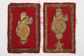 Italy - 2 x  GIL/ONB breast rank badges