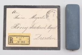 Envelope to Friedrich August & jeweler's case
