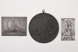 3 x Imperial Germany/Third Reich plaques
