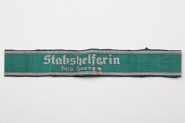 """""""STABSHELFERIN DES HEERES"""" cuff title"""