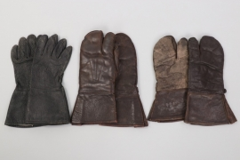 3 pair of leather gloves