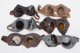 6 x Wehrmacht general purpose goggles