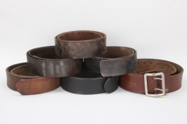 6 x Wehrmacht leather belts