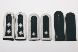 3 x Heer EM/NCO shoulder boards