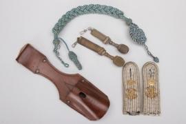 Bavaria - leather frog, insignia & miniature portepee