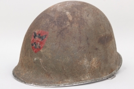 USA - M1 helmet with front emblem - front seam