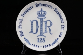 Imperial Danziger Infanterie-Regiment Nr. 128 porcelain plate - MEISSEN