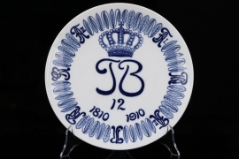 Imperial 1. Train Bataillon Nr.12 porcelain plate - Meissen