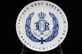 Imperial  Inf.-Rgt. Graf Kirchbach Nr. 46 porcelain plate - MEISSEN