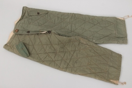 Wehrmacht quilted reversible winter trousers